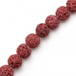 Lava Coloured Bead Round ~8mm (~48pcs/str)