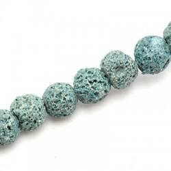 Perlina in Pietra Lavica Colorata ~10mm (~44pz/filo)