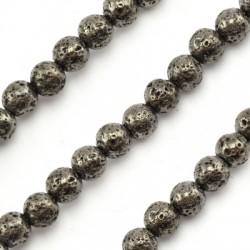 Lava Bead Plated 6mm (~60pcs/string)