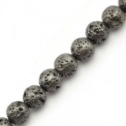 Lava Bead Plated 8mm (~45pcs/string)