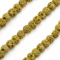 Lava Bead Round (~6mm) (65pcs/string)