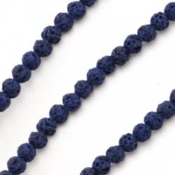 Lava Coloured Bead Round 4mm (90pcs/string)