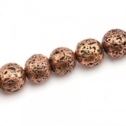 Lava Bead Plated 10mm (~37pcs/string)