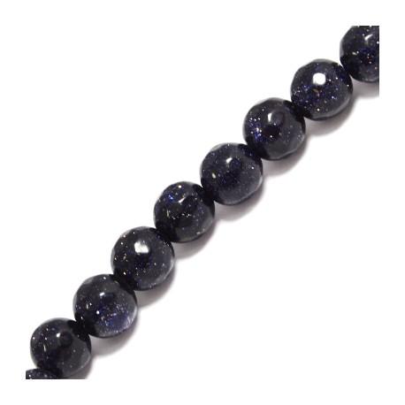 Blue Sand Round Bead ~8mm (~48pcs/string)