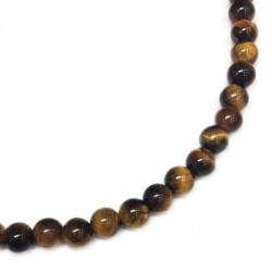 Perlina in Pietra Tiger Eye ~4mm (~85pz/filo)
