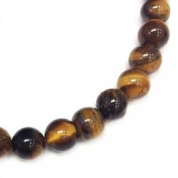 Tiger Eye Bead Round ~8mm (~48pcs/string)
