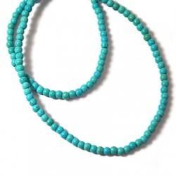 Howlite Turquoise Crackle Ball 2mm (40cm length. 140pcs/str)