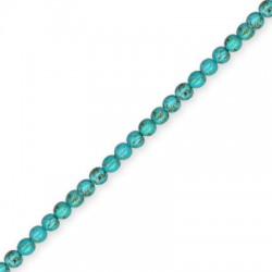 Howlite Turquoise Crack Ball 4mm(40cm length-approx.96pcs/str)