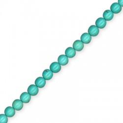 Howlite Turquoise Crackle Ball 6mm(40cm length. 67pcs/str)