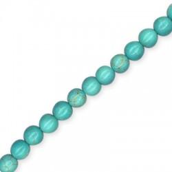 Howlite Turquoise Crackle Ball 8mm(40cm length.52pcs/str)