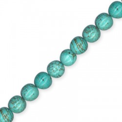 Howlite Turquoise Crack Ball 10mm(40cm length-approx.40pcs/str)