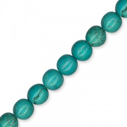 Howlite Turquoise Crackle Ball 12mm(40cm length. 33pcs/str)