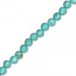 Howlite Turquoise Crackle Faceted Ball 8mm(40cm 56pcs/str)