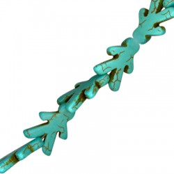 Howlite Turquoise Crack Boy 22x15mm (40cm length-approx.21pcs/str)