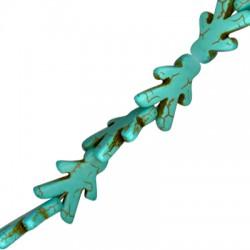 Howlite Turquoise Crackle Boy 22x15mm (40cm.21pcs/str)