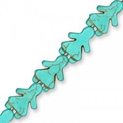 Howlite Turquoise Crackle Girl 23x16mm (40cm.18pcs/str)