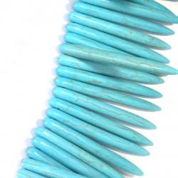 Passante di Howlite Dente 45mm (~100pz/filo)