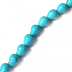 Howlite Turquoise Crack Drop 8x10mm with vertical hole (~40pcs/str)
