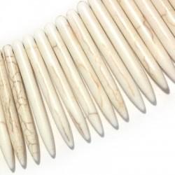 Howlite Pendant Needle 45mm