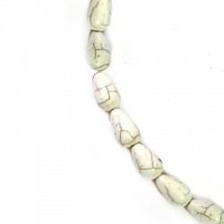 Howlite Drop 10x17mm with Vertical Hole (~26pcs/string)