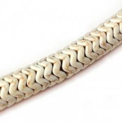 Passant en Howlite Blanc 10mm  (~130pcs/fil)