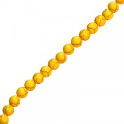 Ημιπολύτιμη Πέτρα Χαολίτης Χάντρα 10 mm (~40τμχ/κορδόνι)