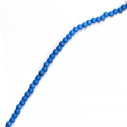 Ημιπ. Πέτρα Χαολίτης Χάντρα Στρογγυλή 4mm(~96 τμχ/κορδόνι)
