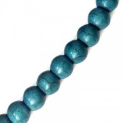 Ημιπολύτιμη Πέτρα Χαολίτης Χάντρα Μπίλια Στρογγυλή 10mm (~40τμχ/κορδόνι)