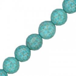 Perlina Sfaccettata di Howlite15mm (~25pz/filo)
