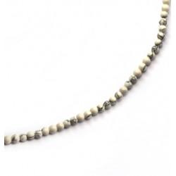 Ημιπ. Πέτρα Χαολίτης Χάντρα Στρογγυλή 4mm (~84τμχ/κορδόνι)