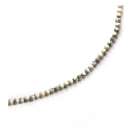 Perlina di Howlite Liscia 4mm (~84pz/filo)