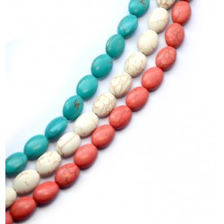 Howlite Bead Oval 13x18mm (~22-24pcs/string)