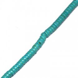 Ημιπολύτιμη Πέτρα Χαολίτης Ροδέλα (~115τμχ/Κορδόνι)