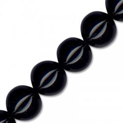 Black Agate Ball 20mm(40cm length-approx.20pcs/str)