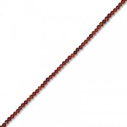 Fancy Agate Red Ball 2mm(40cm length-approx.200pcs/str)