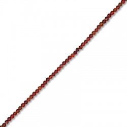 Ημιπολύτιμη Πέτρα Αχάτης Χάντρα Μπίλια Στρογγυλή 2mm (~200τμχ/κορδόνι)