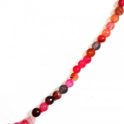 Agate Faceted Ball 6mm(40cm length-approx.60pcs/str)
