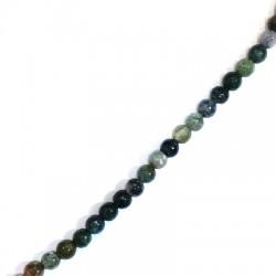 Perle facetée en semi-précieuse Agate ~6mm (~60pcs/fil)