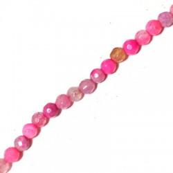 Perlina di Agata Sfaccettata 4mm (~40cm/filo)