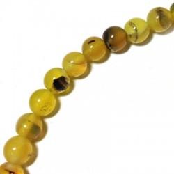 Perlina di Agata Liscia 8mm (~40cm/filo)