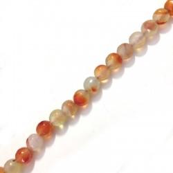 Perlina di Agata Sfaccettata 8mm (~48pz/filo)