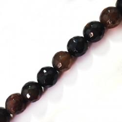 Perlina di Agata Sfaccettata 12mm (~32pz/filo)
