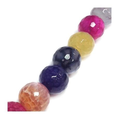 Perlina Sfaccettata di Agata 16mm (~25pz/filo)