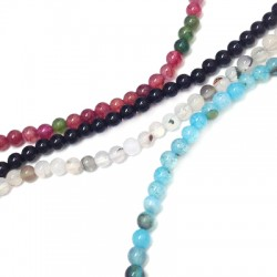 Agate Bead Faceted Round 4mm (~94pcs/string)