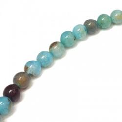 Perle sémi-précieuse en Agate 8mm (~48pcs/fil)