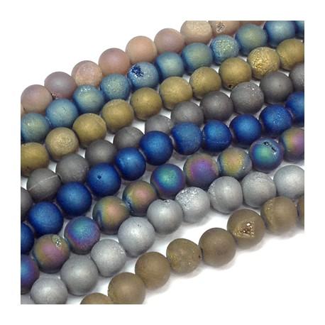 Perle sémi-précieuse en Agate de Brazil 8mm (~48pcs/fil)