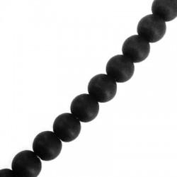 Ημιπολύτιμη Πέτρα Αχάτης/Όνυχας Χάντρα Μπίλια Στρογγυλή 8mm (~48τμχ/κορδόνι)