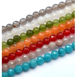 Agate Bead Faceted 8mm (~48pcs/string)