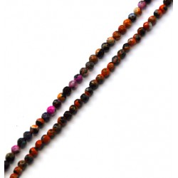 Agate Bead Faceted 4mm (~94pcs/string)