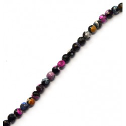 Agate Bead Faceted 6mm (~64pcs/string)